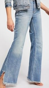 Free People Size 31 Blue Flare Jeans